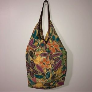 Handbags - 2/$22 — Colourful Floral Water Resistant Hobo Bag